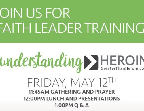Join us for Faith Leader Training May 12