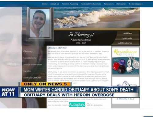 Mom writes honest obit about son who overdosed: Unfortunately, he will be remembered as a statistic