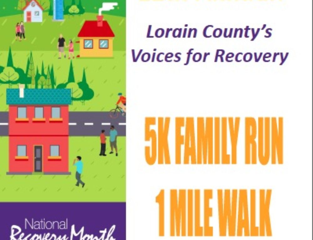 Lorain County's Voices for Recovery 5k Family Run 1 Mile Walk