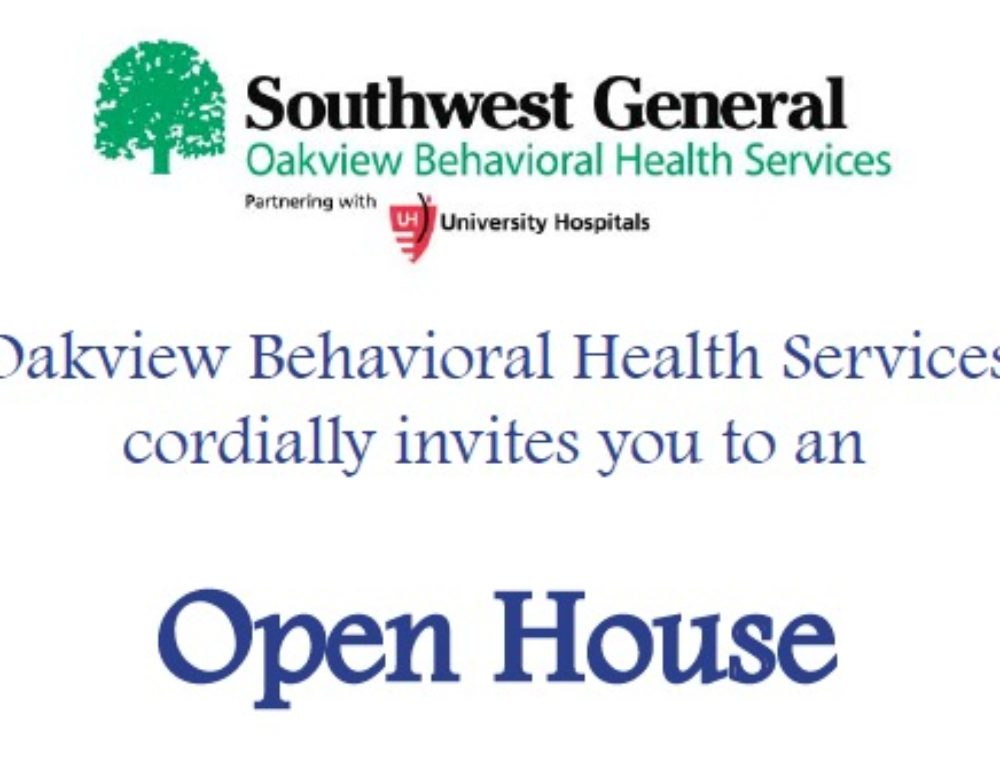 Oakview Behavioral Health Services Open House on November 16