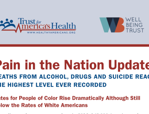 Pain in the Nation Update: Deaths from Alcohol, Drugs and Suicide Reach the Highest Level Ever Recorded